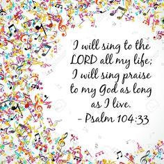 Digital Scripture Art Psalm 104:33 by RachhPaints on Etsy