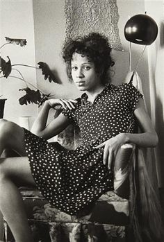 Nan Goldin, roommate in her chair, Boston, 1972