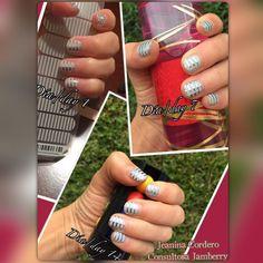 14 días usando Jamberry en mis uñas!! 😊 using Jamberry for 14 days on my nails!!! #nails #uñas #usa #artedeuñas #nailart #fashionnails #jamberry #jamberryconsultant