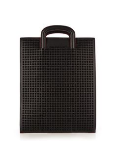 060b52a1d1b Trictrac large spike-embellished leather tote