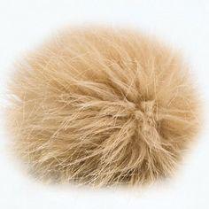 50%OFF Cream Brown Gray Fur Faux Pom Pom Supplies Pom by KnitSew4U