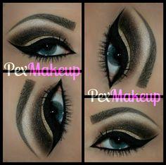 Black - brown eye makeup