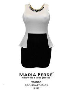 VESTIDO TALLA EXTRA, MODA TALLA EXTRA. PLUS SIZE DRESSES. MARÍA FERRÉ