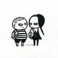 #drawlloween Day 23 - Addams Family  #mabsdrawlloweenclub #addamsfamily…