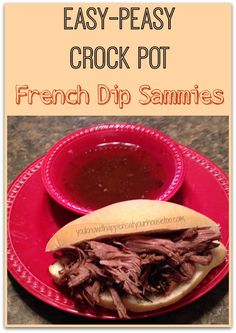 Easy Crock Pot French Dip Sammies: You Know it Happens at Your House Too