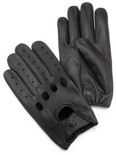 Isotoner Men's Smooth Leather Driving Glove With Covered Snap $23.36 - $30.99