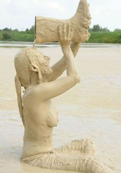 Mudding Girls, Best Cleaning Products, Body Painting, Have Fun, Elephant, Statue, Animals, Collection, Grunge