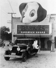 Barkies Sandwich Shop... 3649 Beverly Boulevard (1927)..Los Angeles , California