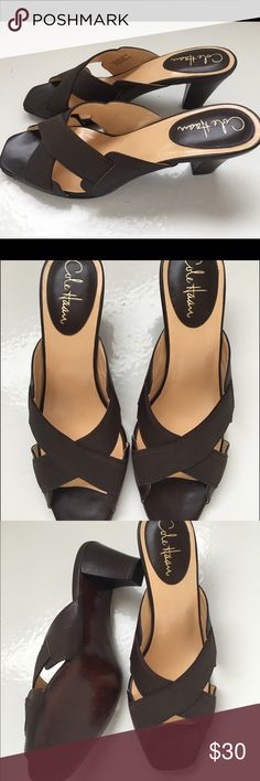 Ladies Cole Haan leather shoes sz 9B Beautiful ladies Cole Haan brown leather dress sandals. These are in excellent condition! Worn once. Great for work or play! Cole Haan Shoes