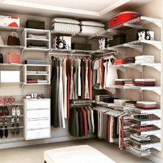 modelo de closet aramado organizado