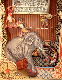 Circus Shadowbox detail by Nicole Eccles