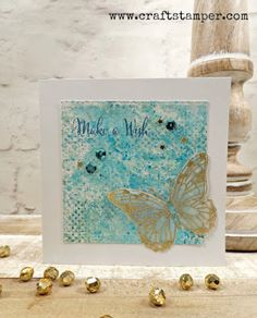 Uniko Studio stamps. Butterflies. Smooshing.