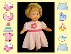 12 in baby doll dress / Melissa and Doug /Tido by kkdesignerdolls