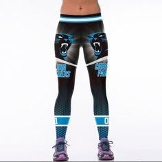 Carolina Panthers S M leggings football Cam Newton Stretch 6310a33f1