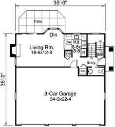 Garage Plan Guest Houses Spaces And Cars