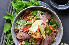 Vietnamese Style Duck Salad with Crispy Greens & Fresh Herbs – Christmas Duck in a Whole New Way – A Tasty Love Story