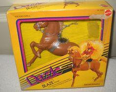 Vintage Mattel DAZZLE Doll Series NEW-in-Box BLAZE HORSE 1980s