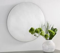 Pottery Barn offers a great range of mirrors, round-mirror, wall mirrors, vanity mirror plus a whole lot more! Shop now. Bamboo Mirror, Round Wall Mirror, Mirror Art, Round Mirrors, Extra Large Wall Mirrors, Decorative Mirrors, Mirror Words, Beaded Mirror, Mirror Crafts