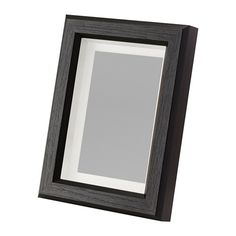 """IKEA - GUNNABO, Frame, 5x7 """", , You can choose to frame your picture in different ways; close to the front or behind the box frame insert to add depth. You can use with or without the accompanying mat.Can be used hanging or standing, both horizontally and vertically, to fit in the space available.The mat is acid-free and will not discolor the picture.Front protection in durable plastic makes the frame safer to use.Can also be used without mat, to take a larger picture."""