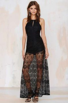 Gypsy Queen Lace Dress - Black - Night Fever