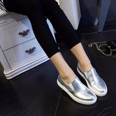 Futuriistic silver slip-ons to shine your day. Quality full leather makes a difference, we are confident to shout about it coz our customers said so.