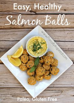 Salmon Balls (Grain Free, Paleo) from Primally Inspired