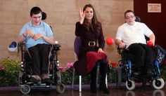 Kate Middleton playing boccia