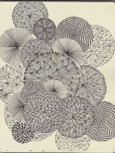 Art project idea: draw overlapping circles and then fill with a variety of creative patterns