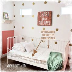 our new simply white buddy's! #girlsroom #queenbed #beddys | girls