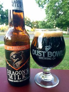 New Holland Brewing 'Dragon's Milk' Bourbon Barrel-Aged Stout. Not my favorite. All Beer, Best Beer, More Beer, Wine And Liquor, Wine And Beer, Dragon's Milk, Beer Bucket, Home Brewery, Beer Art