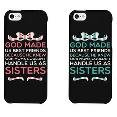 Amazon.com: Cute BFF Phone Cases - God Made Us Best Friends Phone Covers for iphone 4, iphone 5, iphone 5C, iphone 6, iphone 6 plus, Galaxy S3, Galaxy S4, Galax...
