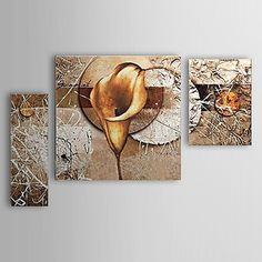 Hand-painted Oil Painting Floral Calla Lily Set of 3 1302-FL0059 – USD $ 129.99