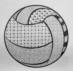 Volleyball for Shelby Volleyball Chants, Volleyball Room, Volleyball Posters, Volleyball Designs, Volleyball Quotes, Volleyball Drawing, Zentangle Patterns, Zentangles, Netball