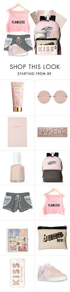 """Sleep Over"" by casualbandgirl ❤ liked on Polyvore featuring AERIN, Linda Farrow, Kate Spade, Urban Decay, Essie, Vans, Victoria's Secret, Harveys, adidas and teen"