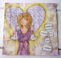 Angels come on all forms Jennibellie Studio: art journals