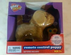 Play Right light Brown Remote Controlled Puppy Age 3+ New in box Play right Puppy Uses 2 AA batteries The remote is corded. New purchased for resale by Keywebco Video inspected during shipping Shipped fast and free from the USA The item for sale is pictured and described on this page. The stock photo may include additional items for display purpose only - which will not be included. Packages may show wear or be opened if the battery is replaced or during the inspection…