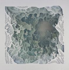 Artist Carefully Cuts Paper into Detailed Layers Playing with Light and Space La Pietra La Piuma Arte de papel tridimensional por Elisa Mearelli 3d Paper Art, Paper Artwork, Diy Paper, Paper Crafts, Paper Cut Out Art, Foam Crafts, Shadow Box Kunst, Shadow Box Art, Paper Cutting