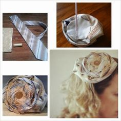 Recycled Fashion: #DIY Upcycled Necktie Fascinator