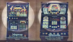 Ace Coin's Magnum and Silhouette video friut machines Video New, Arcade Games, Silhouette, Fruit, Classic, Derby, Classic Books