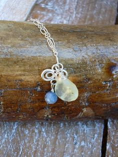 Prehnite Wire Wrapped Faceted Heart Sterling by StarLotusCreations, $40.00 www.starlotuscreations.com Necklace by Stephanie Chun