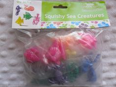 Bulk Lot 24 Sticky Jelly Squishy Sea Creatures Toy Party Loot Bag Favors in Home & Garden, Parties, Occasions, Favours Favours, Party Favors, Birthday Ideas, Happy Birthday, Sensory Bags, Loot Bags, Garden Parties, Toolbox, Sea Creatures