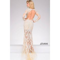 Ivory and Nude Long Sleeves Embellished Pageant Dress 32202 ❤ liked on Polyvore featuring dresses, longsleeve dress, long sleeve dresses, fitted dresses, long sleeve fitted dress and transparent dress