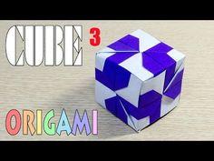 Origami Cube 3 - YouTube Origami Cube, Origami And Kirigami, Carton Diy, Origami Videos, Cubes, Quilling, Paper Art, Fun Stuff, Crafts