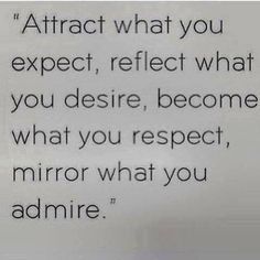 attract, reflect, mirror