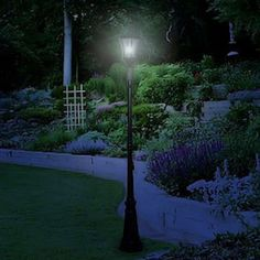 Victorian solar lamp post 3 heads with state-of-the art Gama Sonic solar light bulb technology. Solar Light Bulb, Solar Post Lights, Solar Lamp Post, Solar Energy Panels, Best Solar Panels, Solar Energy System, Solar Panel System, Types Of Lighting, Diy Solar