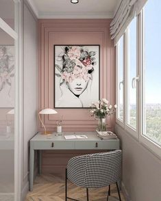 Home Room Design, Home Office Design, Home Office Decor, Home Interior Design, House Design, Home Decor, Interior Office, Modern Office Decor, Luxury Office