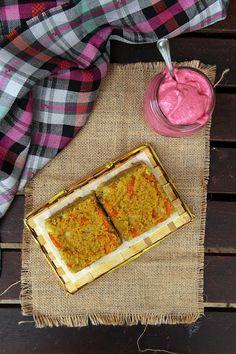 Tortino di miglio e maionese di barbabietola | Sugarless