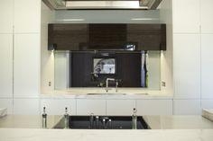 Kitchen pass through to informal dining. Brooke Aitken Design.