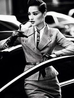 Power Suits - Suit Fashion Trend 2012 - Marie Claire. Grid Locked.
