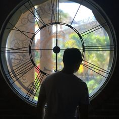 Look from the window clock. Thinking about you.